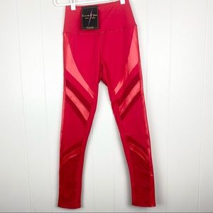 Electric Yoga Red High Waisted Strut It Leggings